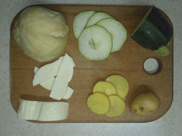 ингредиенты для вегетарианского пирога