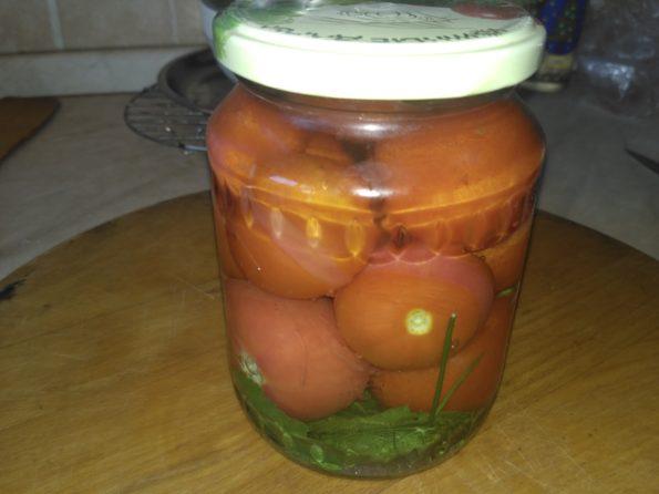 помидоры соленые со сливой