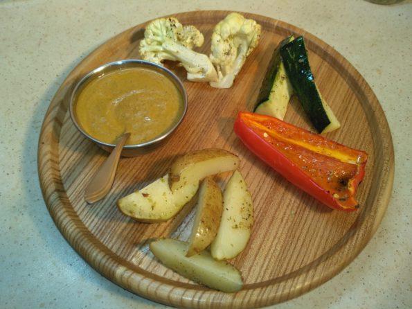 Печенные овощи в духовке