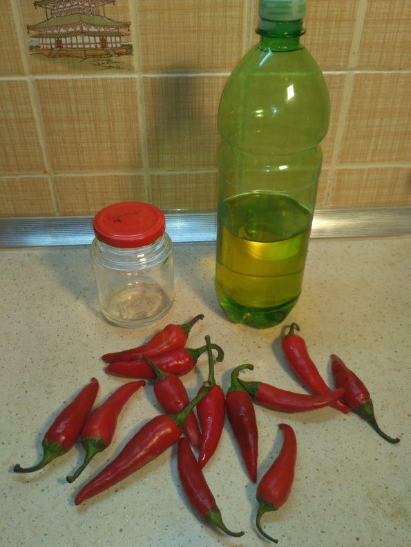 Ингредиенты маринованного острого перца чили