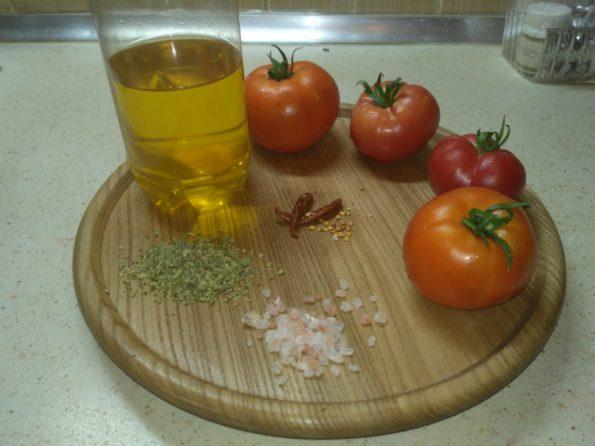 ингредиенты для вяленых помидор