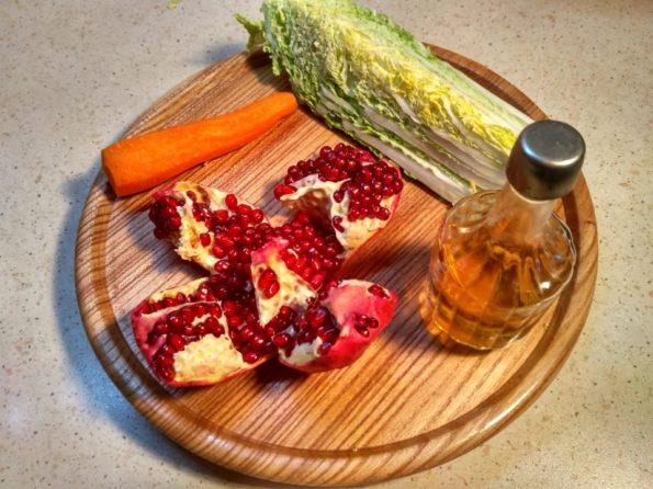 Ингредиенты для вегетарианского салата
