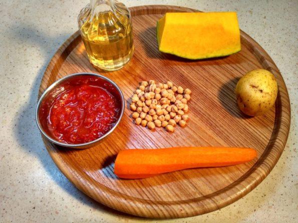 Ингредиенты для приготовления шурпы