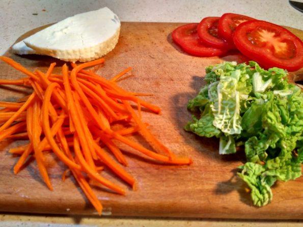 Ингредиенты для приготовления вегетарианского бургера