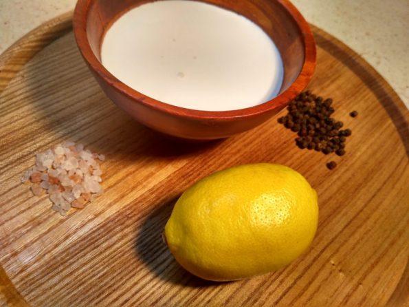 Ингредиенты для сливочного соуса