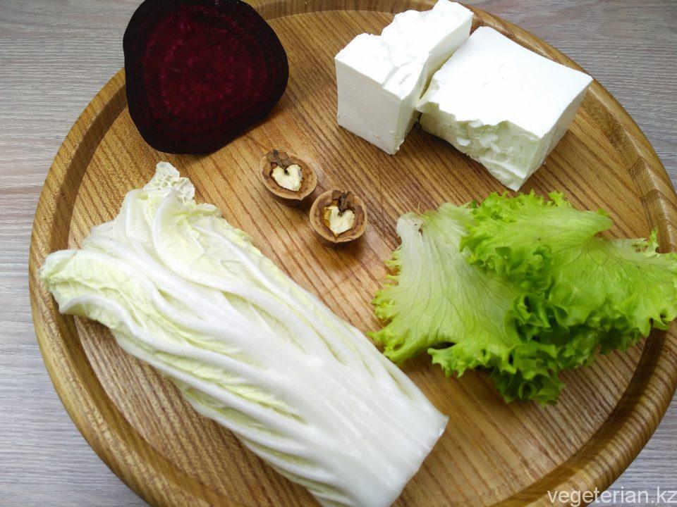 Салат со свеклой и плавленным сыром