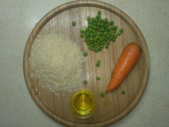 Ингредиенты для риса с овощами