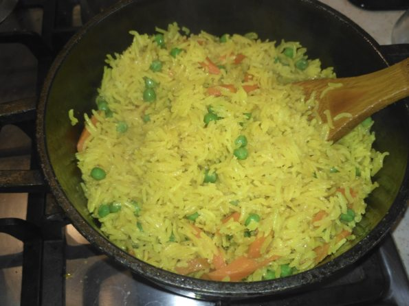 готовим рис с овощами