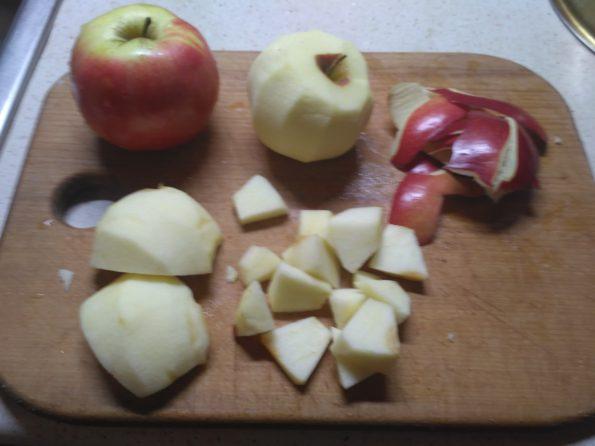 Подготовка яблок для пирога