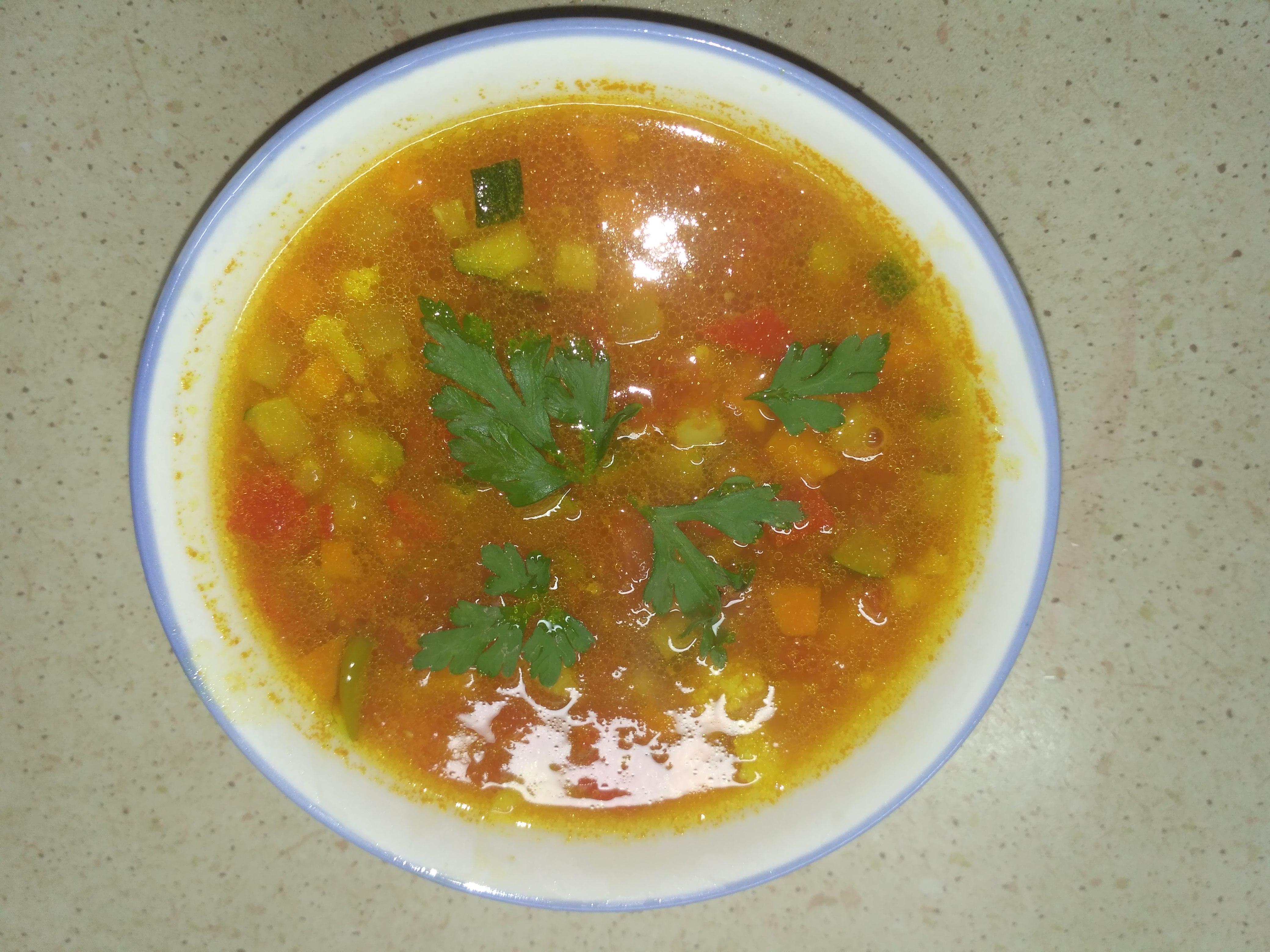овощной вегетарианский суп минестроне