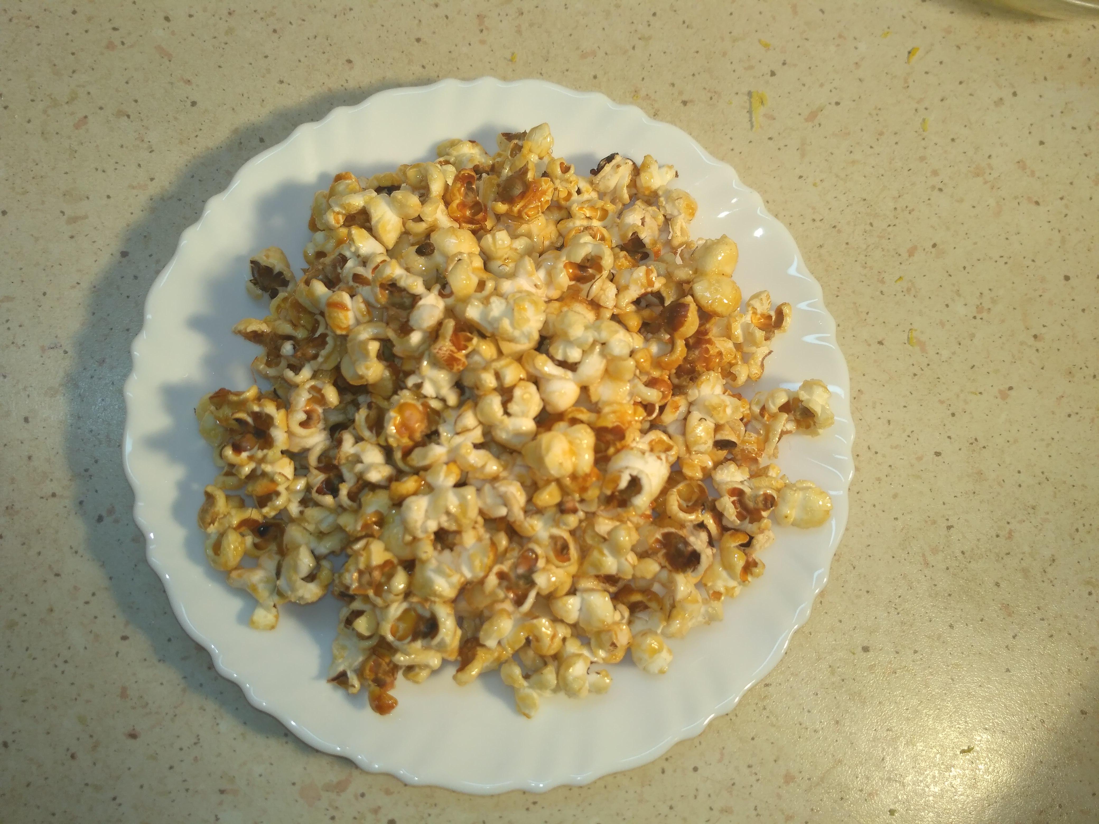 домашний сладкий попкорн