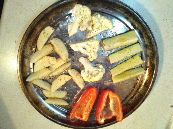 Ингредиенты для печенных овощей в духовке