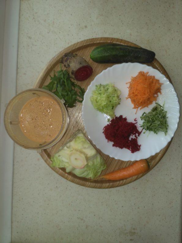 Ингредиенты для сыроедческого борща