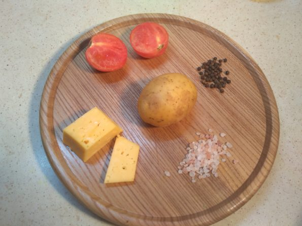 Ингредиенты для картофельной закуски