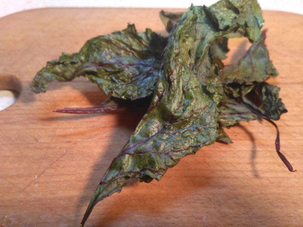 Чипсы из листьев свеклы