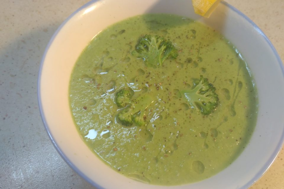Веганский крем суп с брокколи