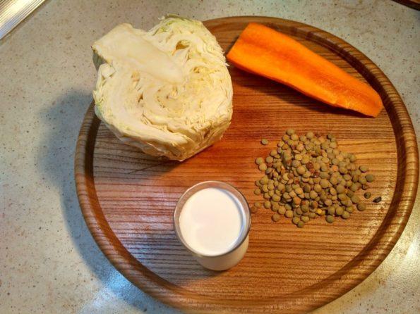 Ингредиенты для чечевицы