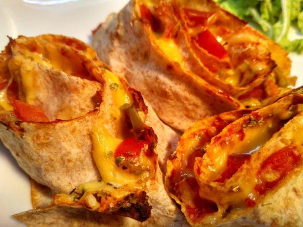 Вегетарианская завернутая пицца
