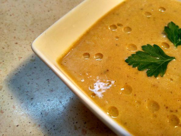 Вегетарианский крем суп с грибами