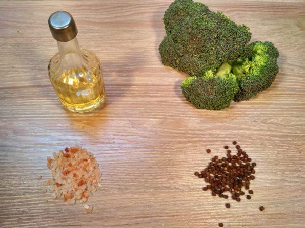 Ингредиенты для приготовления брокколи