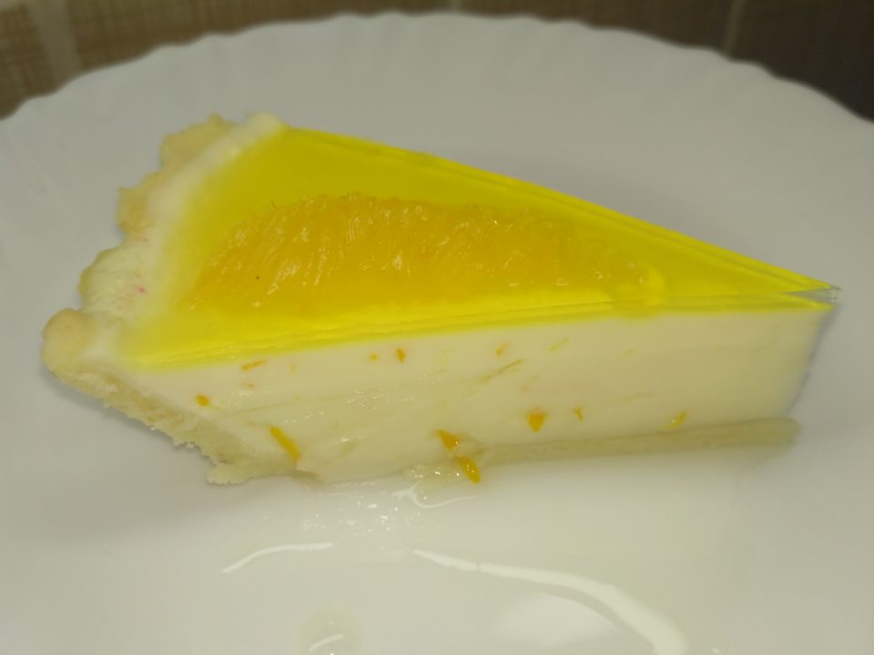 Сливочный пирог с апельсином без яиц