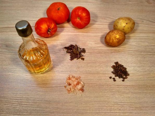 Ингредиенты для томатного крем супа