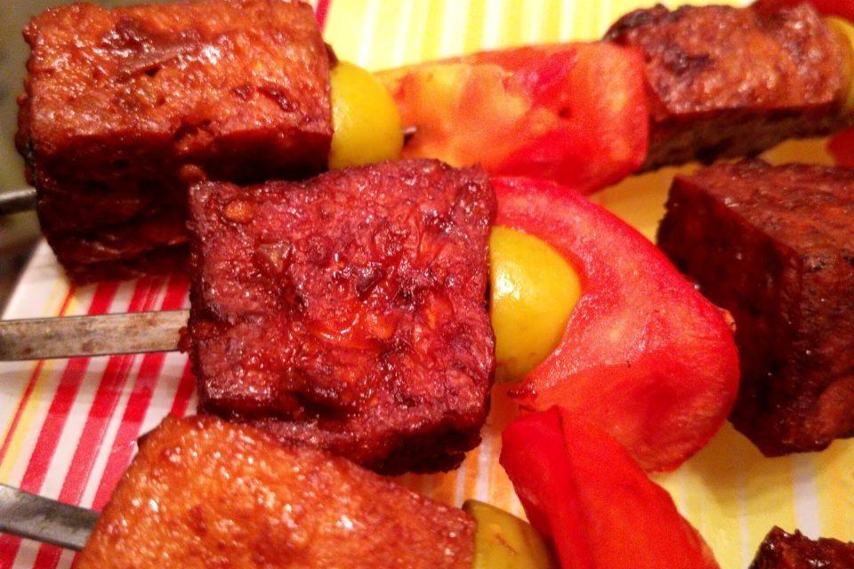 Вегетарианский шашлык из тофу