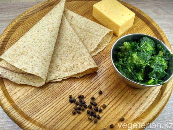 Ингредиенты для приготовления вегетарианской кесадильи