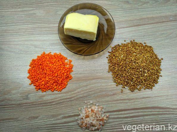 Ингредиенты для приготовления гречневой каши