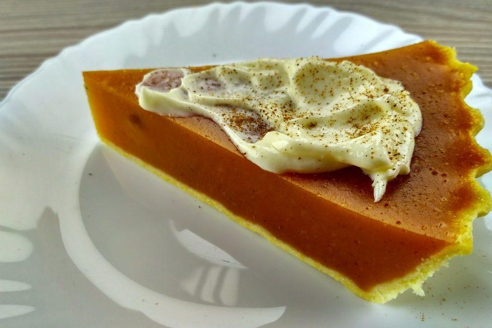 Вегетарианский тыквенный сладкий пирог