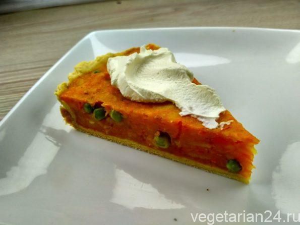 Вегетарианский пирог с овощами