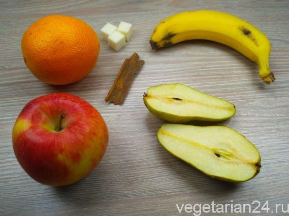 Ингредиенты для приготовления фруктового салата