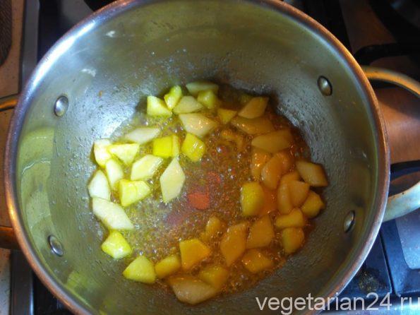 Приготовление фруктов