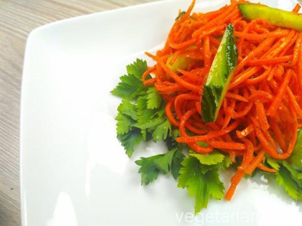 Корейская морковь без чеснока