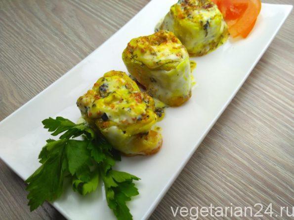 домашние вегетарианские каннеллони с чечевицей