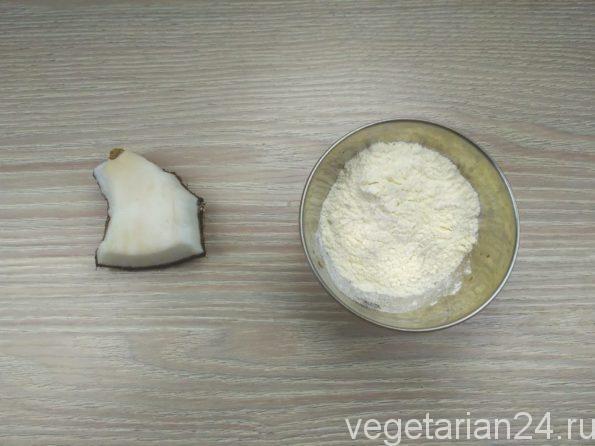 Ингредиенты для кокосового печенья