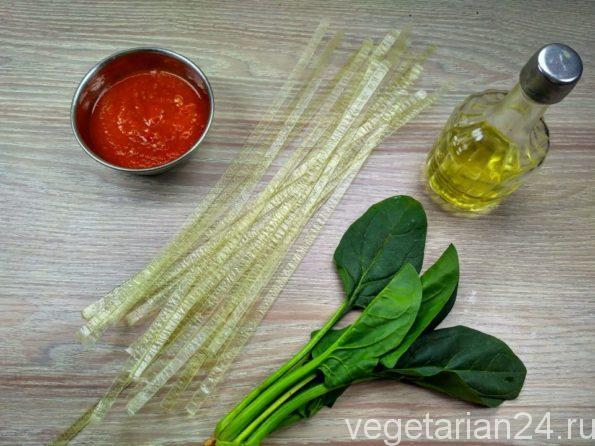 Ингредиенты для приготовления рисовой лапши