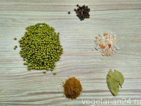 Ингредиенты для приготовления супа из маша