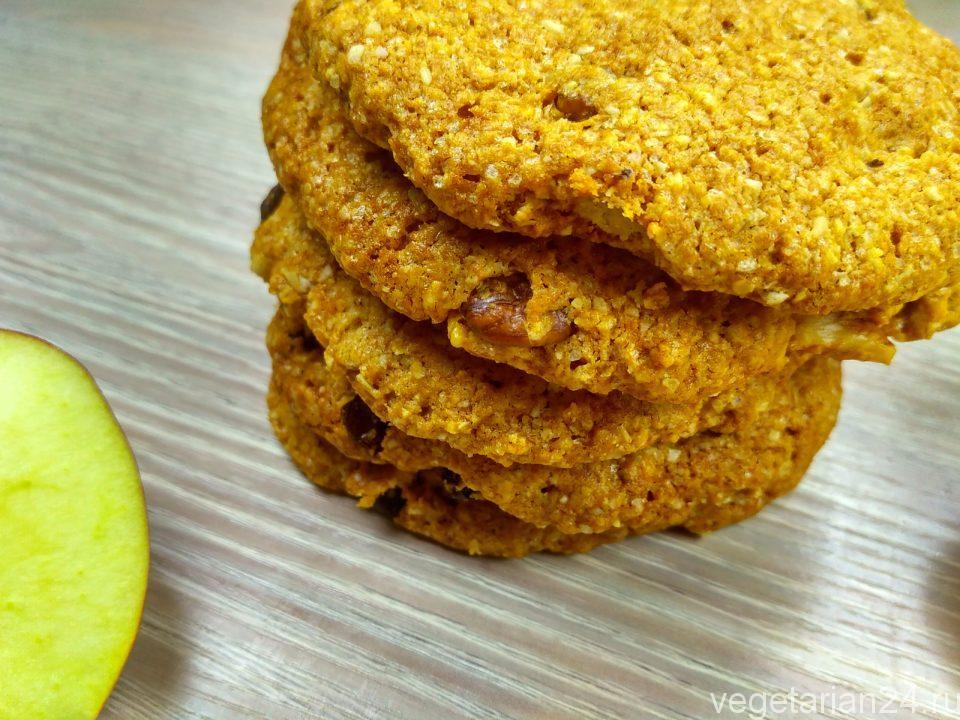 Веганские овсяные печенья без яиц