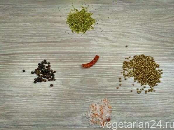 Ингредиенты для приготовления соли