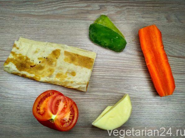 Ингредиенты для кесадилья