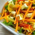 Вегетарианский салат из чечевицы