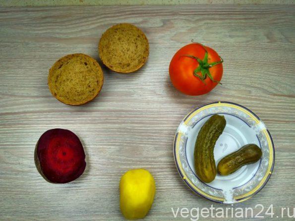 Ингредиенты для мини бургера