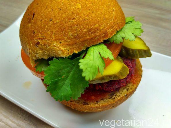 Мини овощной бургер