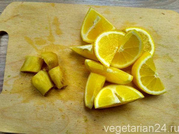 Лимон и имбирь для полезной смеси