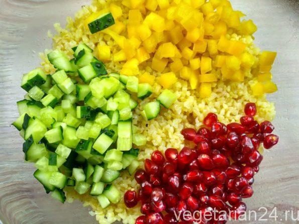 Готовим салат с булгуром