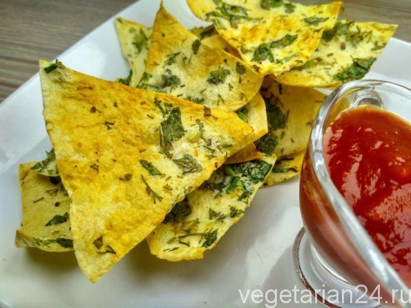 чипсы из лаваша со сметаной и зеленью