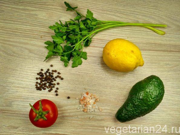 Ингредиенты для приготовления гуакамоле