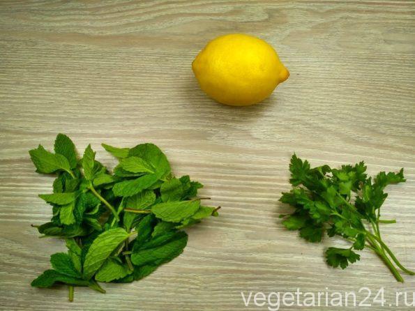 Ингредиенты для приготовления зеленого соуса
