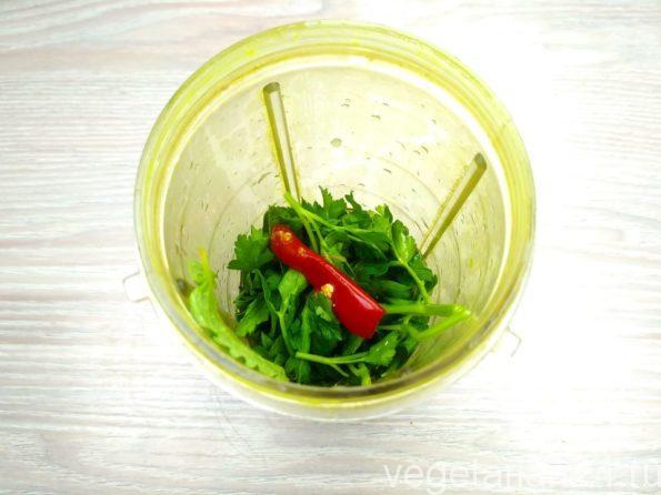 Готовим зеленый соус